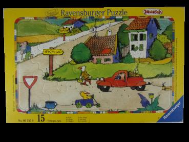 Rahmenpuzzle 15 Teile Janosch Im Dorf  gebraucht