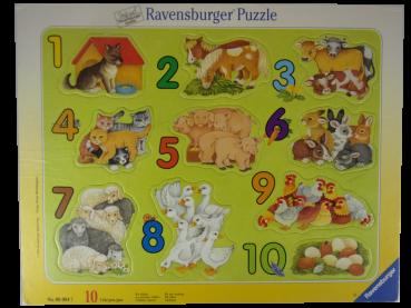 Rahmenpuzzle 10 Teile Wir zählen  gebraucht